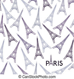 Paris design over white background, vector illustration