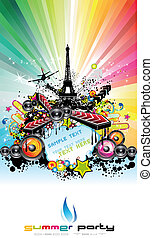 Paris Disco Event Background