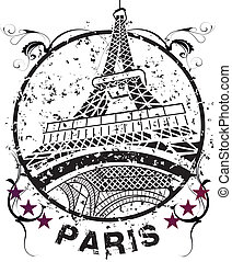 PARIS - the Eiffel Tower the symbol of Paris the city of...