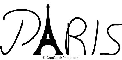 Paris Eiffel tower vector eps 10