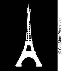 Paris - Eiffel Tower vector icon