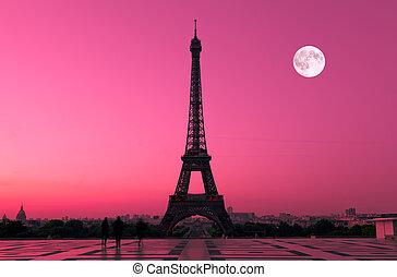 paris, em, alvorada