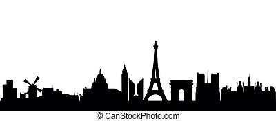 Paris - detailed vector skyline of Paris