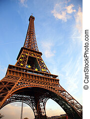 paris, excursão, d\'eiffel