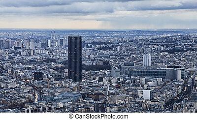 paris, -, excursão, montparnasse