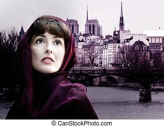 paris, femme
