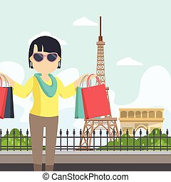 paris, femme, socialita