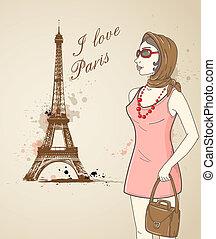 paris, flicka