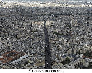 paris, foto, luftaufnahmen
