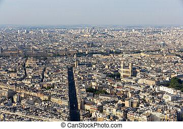 Paris,  -, França,  maine-montparnasse, torre, vista