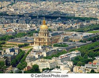 Paris, França, vista, torre,  Montparnasse