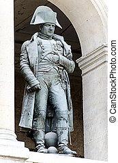 PARIS, FRANCE - APRIL 10: Statue of Napoleon Bonaparte, Les...