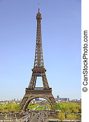 Paris, France - April 14, 2015: The Eiffel Tower is one of the world's most famous landmark in Paris, France.