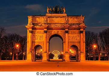 Paris, France: Arc de Triomphe du Carrousel