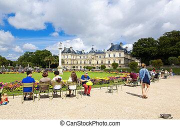 Paris - PARIS, FRANCE, August 9, 2014: The beautiful view of...