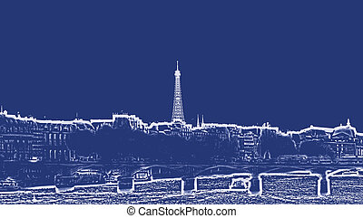 Paris France city skyline