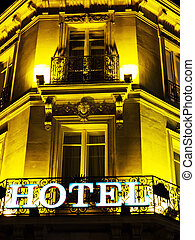 paris, france. hotel