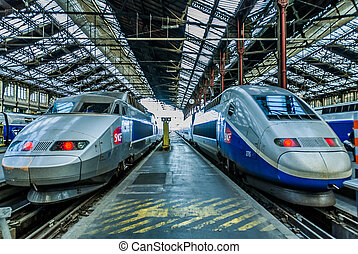 TGV high speed french train - PARIS , FRANCE - JULY 7 : TGV...