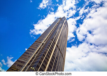 paris, france. the montparnasse tower of view, from which one can overlook the city well
