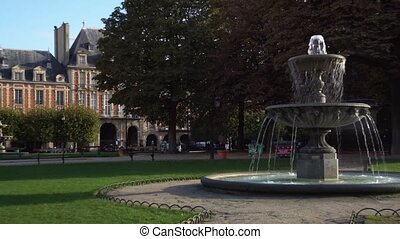 Place de Vosges, Paris - PARIS, FRANCE - OCTOBER 05:...