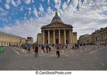 Pantheon - PARIS, FRANCE - OCTOBER 6, 2018: View of Pantheon...