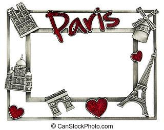 Metal photoframe souvenir from Paris