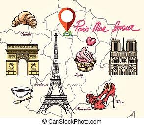 Paris France symbols