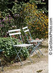 Paris - gardens dedicated to Auguste Renoir surround the Museum of Montmartre