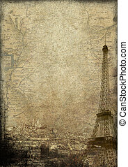 Paris grunge - background