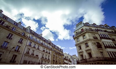 Paris houses timelapse - Beautiful Full HD timelapse of...