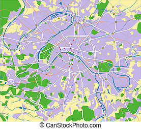 Paris - Vector map of Paris.