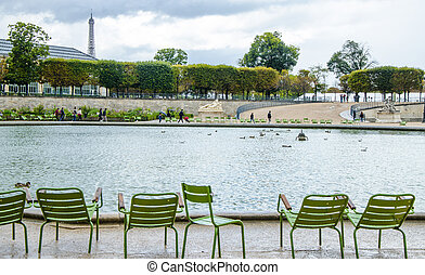 Paris in rain