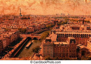 Paris in retro style