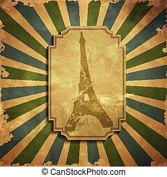 Paris in vintage style poster