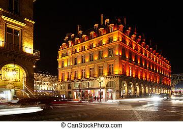PARIS - JANUARY 1: The crossroad of Rue de Rohan and Rue de...