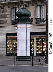 Paris kiosk - Classic style advertising kiosk column in ...