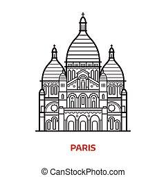 Paris Landmark Vector Illustration