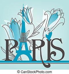 paris, lettrage, lis