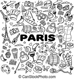 Paris line art design vector illustration - Paris coloring...