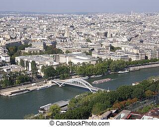 paris, luftblick