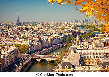 paris, luftblick