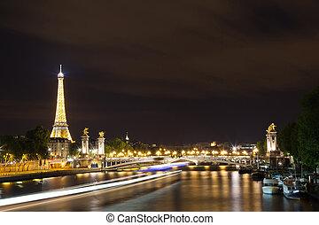 paris, magia, noturna