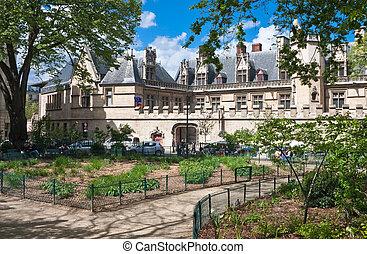 paris, -, musée, âges, état, milieu, thermique, bains, mansion., cluny