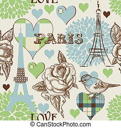 paris, muster, seamless