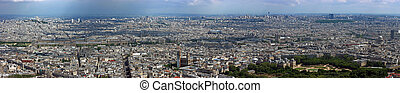 Paris north aerial panorama