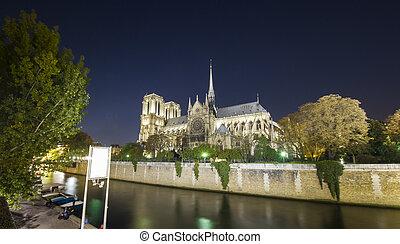 paris, notre, catedral, senhora