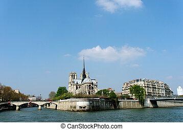 Paris, Notre Dame - Paris, cathedral Notre Dame (our lady)...
