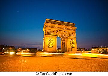 paris, paris, france. arc de triomphe