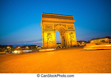 paris, paris, france. arch of triumph
