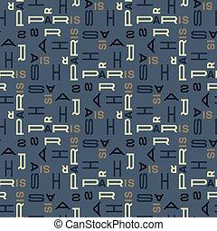Paris pattern seamless design